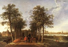 Aelbert Cuyp, The Avenue at Meerdervoort, Netherlands, early Painting Dutch Artists, Famous Artists, Dutch Golden Age, 17th Century Art, Framed Art, Wall Art, Hieronymus Bosch, Johannes Vermeer, Classic Paintings