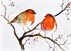 christmas bird painting - Hľadať Googlom
