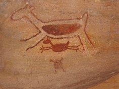 The Serra da Capivara National Park in Brazil is home to rock shelters where there are 25,000-year-old cave paintings. These rock shelters are among the oldest human communities in South America.