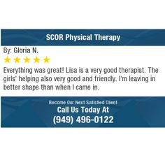 Everything was great! Lisa is a very good therapist. The girls' helping also very good and...