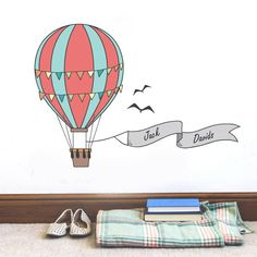 Personalised Hot Air Balloon Sticker