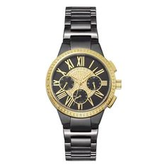 JBW Women's J6328C Helena 0.16 ctw Black Ion-Plated Stainless Steel Diamond Watch