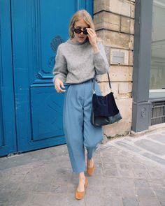 "TAYLR ANNE on Instagram: ""Easy look while wandering Paris. Wearing @rachelcomey via @shopidun & @acnestudios"" • Instagram"