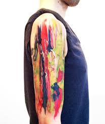 watercolor paint brush tattoo - Google Search