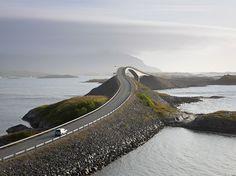 Picture of the Storseisundet Bridge in Romsdal, Norway #AtlanticRoad @FjordNorway