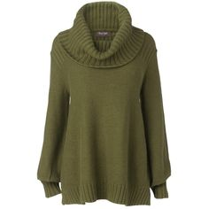 Phase Eight Harrison Roll Neck Jumper, Olive (£30) ❤ liked on Polyvore featuring tops, sweaters, knitwear, shirts, green jumper, loose sweater, green sweater, army green sweater and jumper shirt