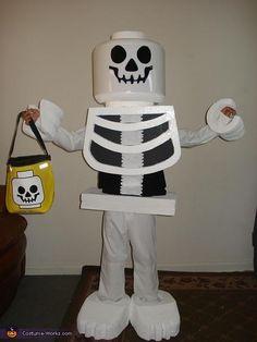 Lego Skeleton Boy - Homemade Halloween Costume