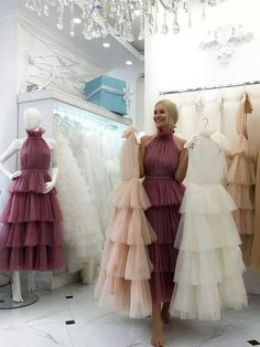 Cheap Prom Dresses Aline Tea-length Chic Long Blush Pink Simple Prom Dress - Tea Bridesmaids Gowns Vintage Style, Calf Length Dresses for . Cheap Prom Dresses, Quinceanera Dresses, Unique Dresses, Simple Dresses, Pretty Dresses, Beautiful Dresses, Wedding Dresses, Puffy Dresses, Dresses Dresses