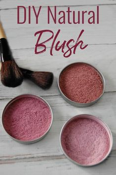 Want an alternative to over-priced makeup and toxin laden cosmetics? Learn how to make this diy natural blush! Just takes a few ingredients and seconds to make! natural make up diy DIY Natural Blush Natural Blush, Natural Beauty Tips, Natural Skin Care, All Natural Makeup, Natural Curls, Natural Makeup Products, Organic Makeup, Natural Glow, Organic Beauty
