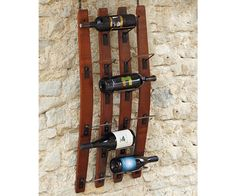 handcrafted wooden wine rack
