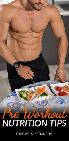 Pre workout nutrition. How to structure your meals leading up to your workout.