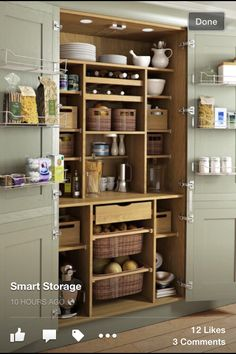 Magnificent Traditional Kitchen by Yorkshire And The Humber Kitchen Designers & Remodelers Holme Design The post 10 Kitchen Pantry Ideas for Your Home appeared first on Interior Designs . Kitchen Pantry Design, New Kitchen, Kitchen Storage, Kitchen Organization, Kitchen Ideas, Pantry Storage, Storage Room, Country Kitchen, Country Living
