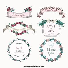 Love Banners and Labels I Free Vector