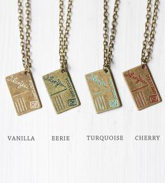 Postcard Charm Necklace | Jewelry Necklaces | Gleeful Peacock | Scoutmob Shoppe | Product Detail