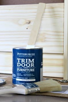 Oil-based paint is great for a flawless finish on furniture projects.