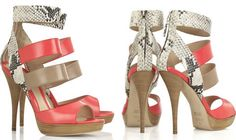 summer.sandals: in love with these Fendi Python Effect Leather Sandals
