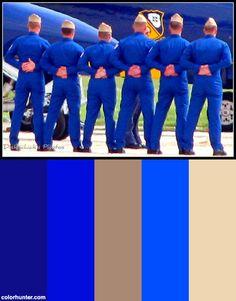 03 Blue Angels Pilots Color Scheme from colorhunter.com