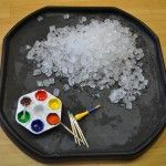 Toddlers getting creative at nursery