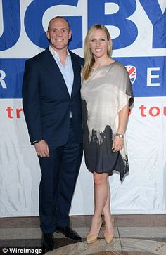 Power couple: Zara Phillips and former England rugby international Mike Tindall