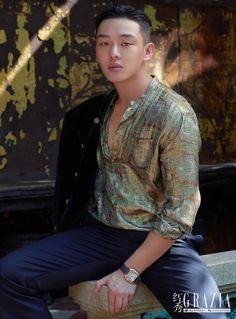 Yoo Ah In is on the cover of Grazia MAN China, check it out! Korean Drama Stars, Lee Bo Young, Yoo Ah In, Korean Actors, Asian Actors, Boyfriend Material, Beautiful Men, Actors & Actresses, Kdrama