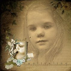 Captivating created using Ties to the Past, Quite Becoming and Across the Page word art by Lauren Bavin of Digital Scrapbook Place