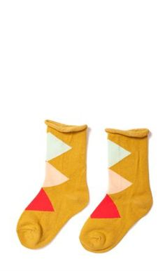 Yellow socks from Hansel from Basel are a must in the cool boy's wardrobe.