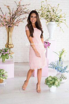 e6ce508088a83 The Danaca. Modest Boutique, Pink Lace, Modest Dresses ...