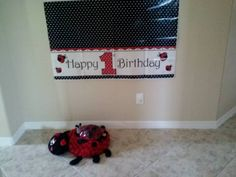 Lady Bug Birthday Party Ideas... Activities, Photo Area