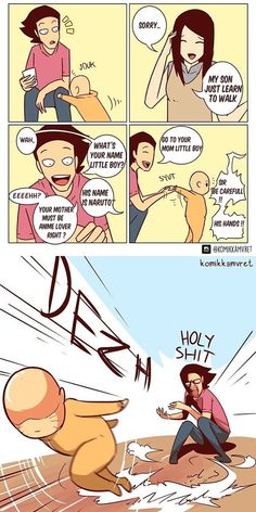 When Anime Come To Life is part of Funny comic strips - More memes, funny videos and pics on Funny Shit, Crazy Funny Memes, Funny Relatable Memes, Haha Funny, Funny Posts, Hilarious, Randowis Comics, Funny Comics, Image Hilarante