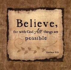 Believe With God