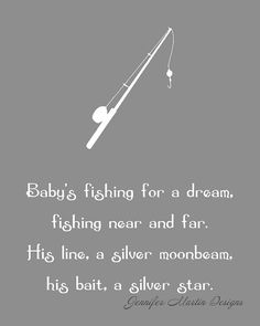 8x10 Nursery Art Print Fishing for a Dream by jamscraps on Etsy, $12.00