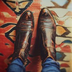 Weathered. My mom had these exact shoes in.high schook. Now there back in style and i must have them.