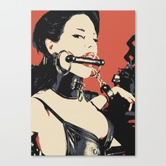 """About:Title - """"Fetish Queen, bondage erotic""""- Erotic #Art Canvas Print - Fetish Queen, bondage erotic, unique #sexy conte sketch art #style print, Perfect nude girl in seducin... #design #prints #adult #girl #hot #kinky #naughty #sub #submissive"""