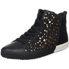 Chaussure basket Geox pour Homme Femme   couleur  Noir - Gold   B-3CNL 34b9f33d0970