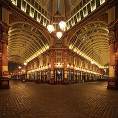 Leadenhall Market @ London, England.  I need to go next time we're in London!