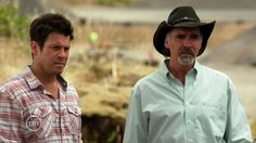 "Christian Kane and Jeff Fahey from The Librarians S2 epi 3 ""And what Lies Beneath The Stones"""