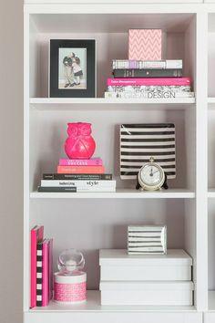 Karen Davis' Playful and Pink Office {Office Tour}