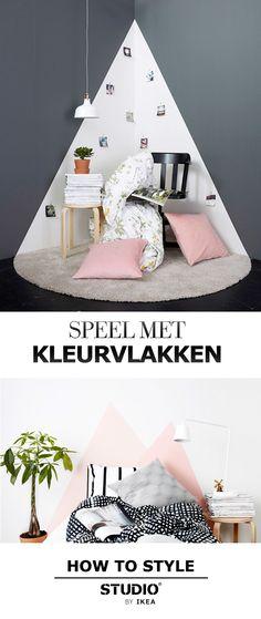 Speel met kleurvlakken artikel - STUDIO by IKEA | #STUDIObyIKEA #IKEA #IKEAnl…