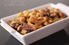 Rosemary Roasted Walnuts | my kitchen addiction