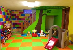 In-home child care playroom!