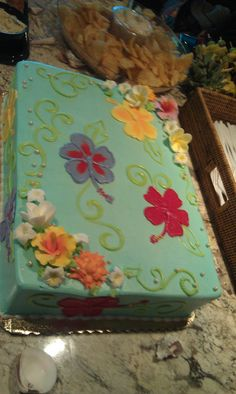 The cake for my luau themed shower