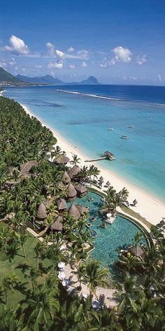 La Pirogue - Mauritius - Beautiful location, pool right next to the beach. Love the huts!  #travel #adventure http://www.worldtraveltribe.com