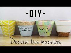 DIY   Decora tus macetas - MayBe - YouTube
