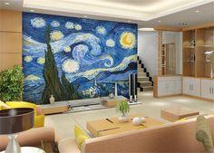 Купить товар3D обои/обычай росписи/фото обои/Ван Гог небо фотографии фоне стены/ТВ/диван/постельные принадлежности//бар/Отель/гостиная в категории Обоина AliExpress.