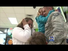 U.S. Airman, Home From Afghanistan, Surprises His Three Children