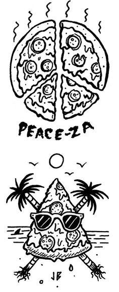 Peace-za & Paradise Slice jamiebrowneart.com