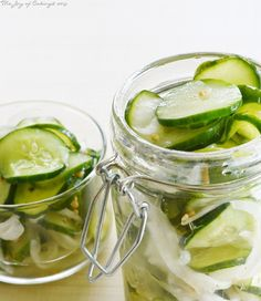 Easy Sweet Refrigerator Pickles @thejoyofcaking