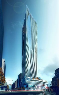 20 Beautiful Examples Of Residential Architecture. One Bloor East in Toronto, Canada – Hariri Pontarini Architects Beautiful Canadian Homes Futuristic Architecture, Beautiful Architecture, Residential Architecture, Interior Architecture, Residential Complex, Unusual Buildings, Amazing Buildings, Modern Buildings, High Rise Building