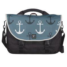 Blue Anchors Commuter Bag