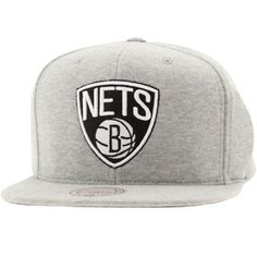 Casquette Snapback Homme Brooklyn Nets Throwback All White Mitchell /& Ness